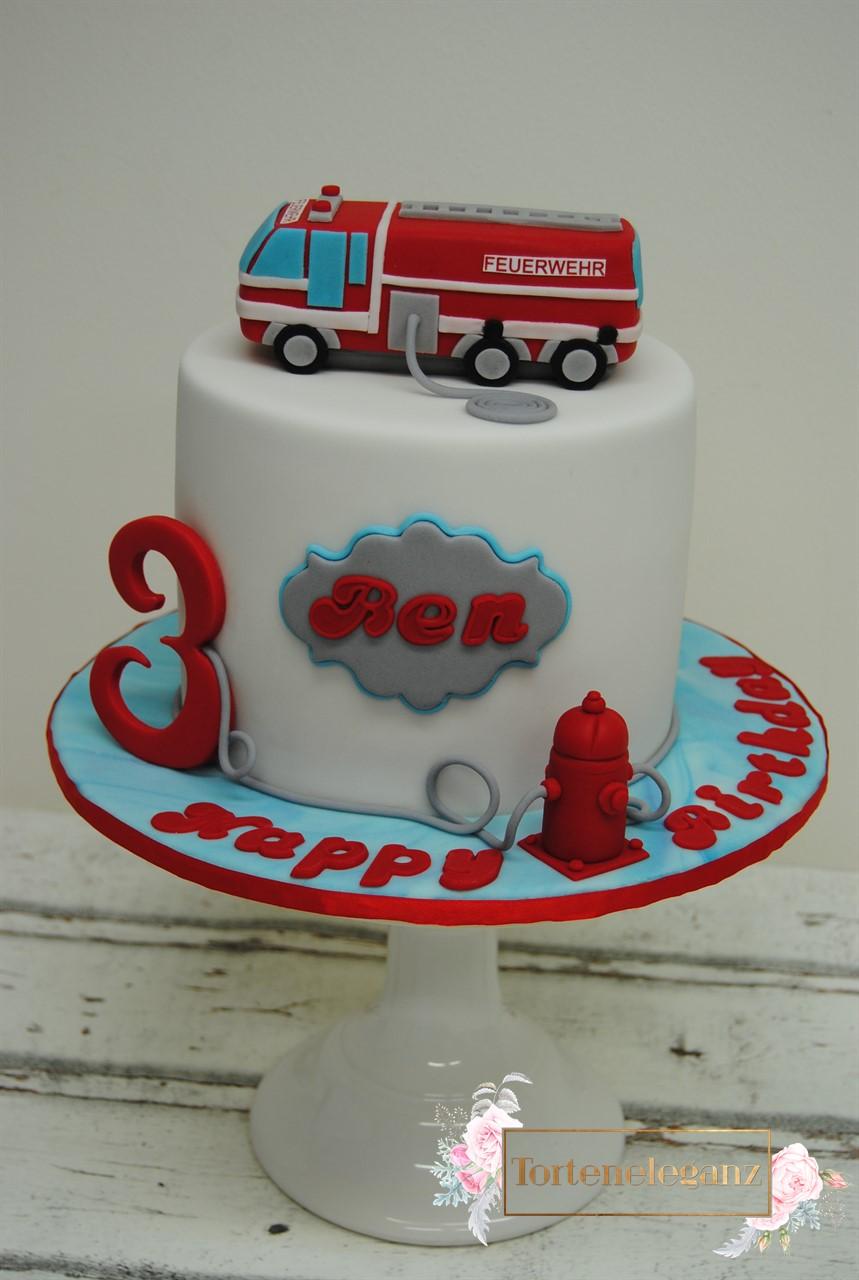 Feuerwehr Torte Zum 3 Geburtstag Torteneleganz