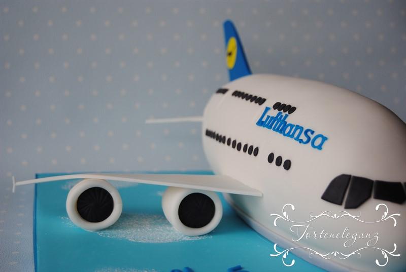 Airbus A380 Lufthansa Flugzeug Torte Torteneleganz
