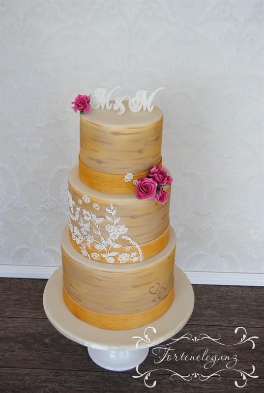 3 Stockige Birken Hochzeitstorte Torteneleganz
