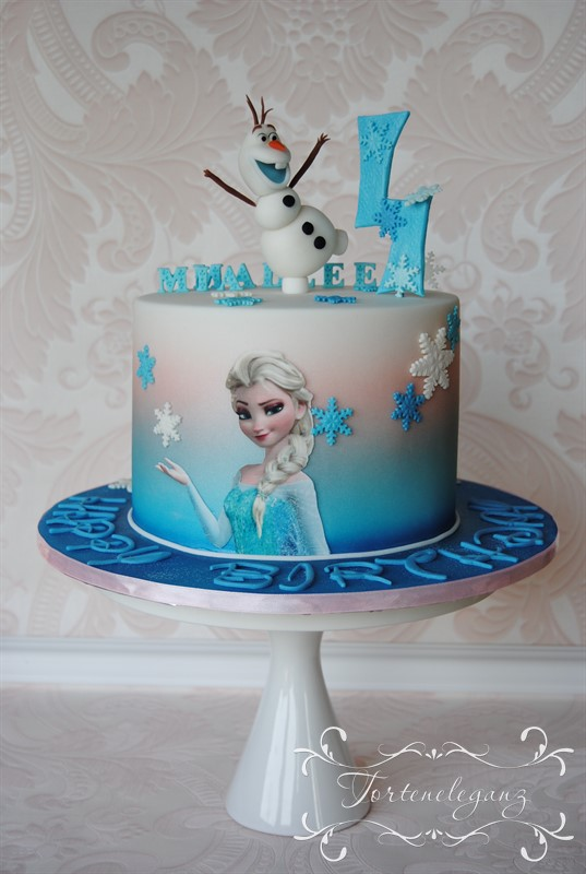 die eisk nigin elsa und olaf torte torteneleganz. Black Bedroom Furniture Sets. Home Design Ideas