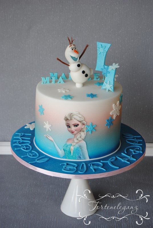 Die Eiskonigin Elsa Und Olaf Torte Zum 4 Geburtstag Torteneleganz