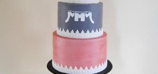 Hochzeitstorte Mint Mit Stencil Und Cakepops Torteneleganz