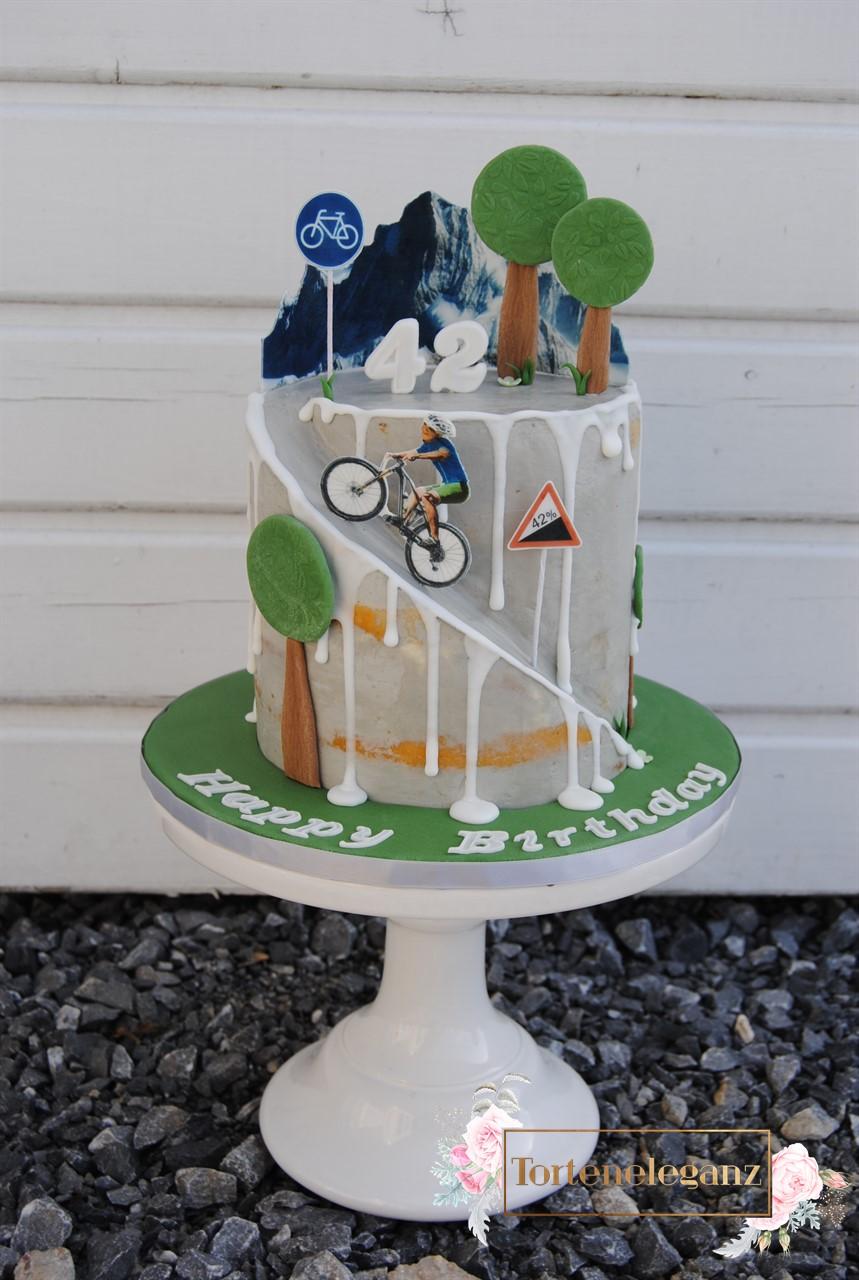 Fahrrad Alpen Geburtstags Torte Torteneleganz